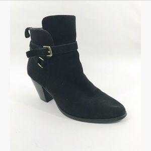 RALPH LAUREN Black macie booties with buckles
